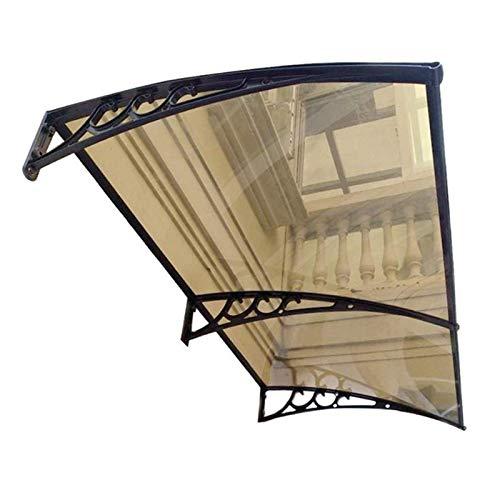 Toldo para patio, porche, puerta, ventana, jardín, toldo, toldo, techo, color marrón, porche, exterior, para puerta delantera (color: marrón, tamaño: 80 x 160 cm)