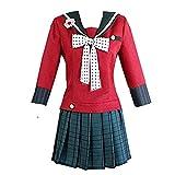 Anime Harukawa Maki Cosplay Costume Women School Sailor Dress Halloween (S) Red