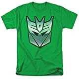 Transformers Retro Decepticon Logo Unisex Adult T Shirt for Men and Women, Kelly Green, 5X-Large