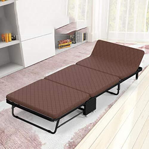 RAPLANC Klappsessel, Bett Einzelbett Doppelbett Büroschlaf Artefakt Falt- und tragbares Klappbett 3-Fach -75CM- Leinen grau