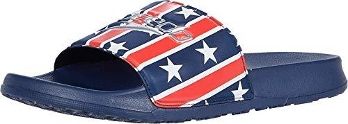 Speedo unisex adult Sandal Deck Slide Water Shoe, Navy/Red/White, 12 Women Men US