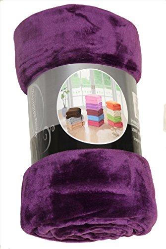 ForenTex - Manta de sedalina, (LI-130 Morado), Ultra Suave, microseda, para abrigarte con Estilo y Confort, 130 x 160 cm, 650 g. No Suelta Pelo. para sofá y Cama.