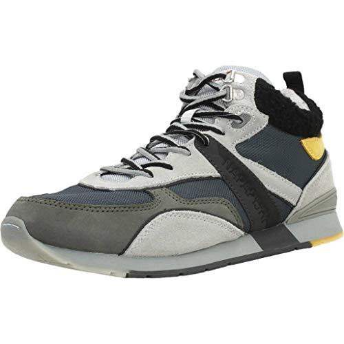 Napapijri Footwear Herren RABARI Hohe Sneaker, Grau (Dark Grey N88), 43 EU