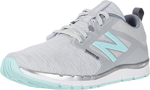 New Balance Women's 577 V5 Cross Trainer, Light Aluminum/Gunmetal/Bali Blue, 8