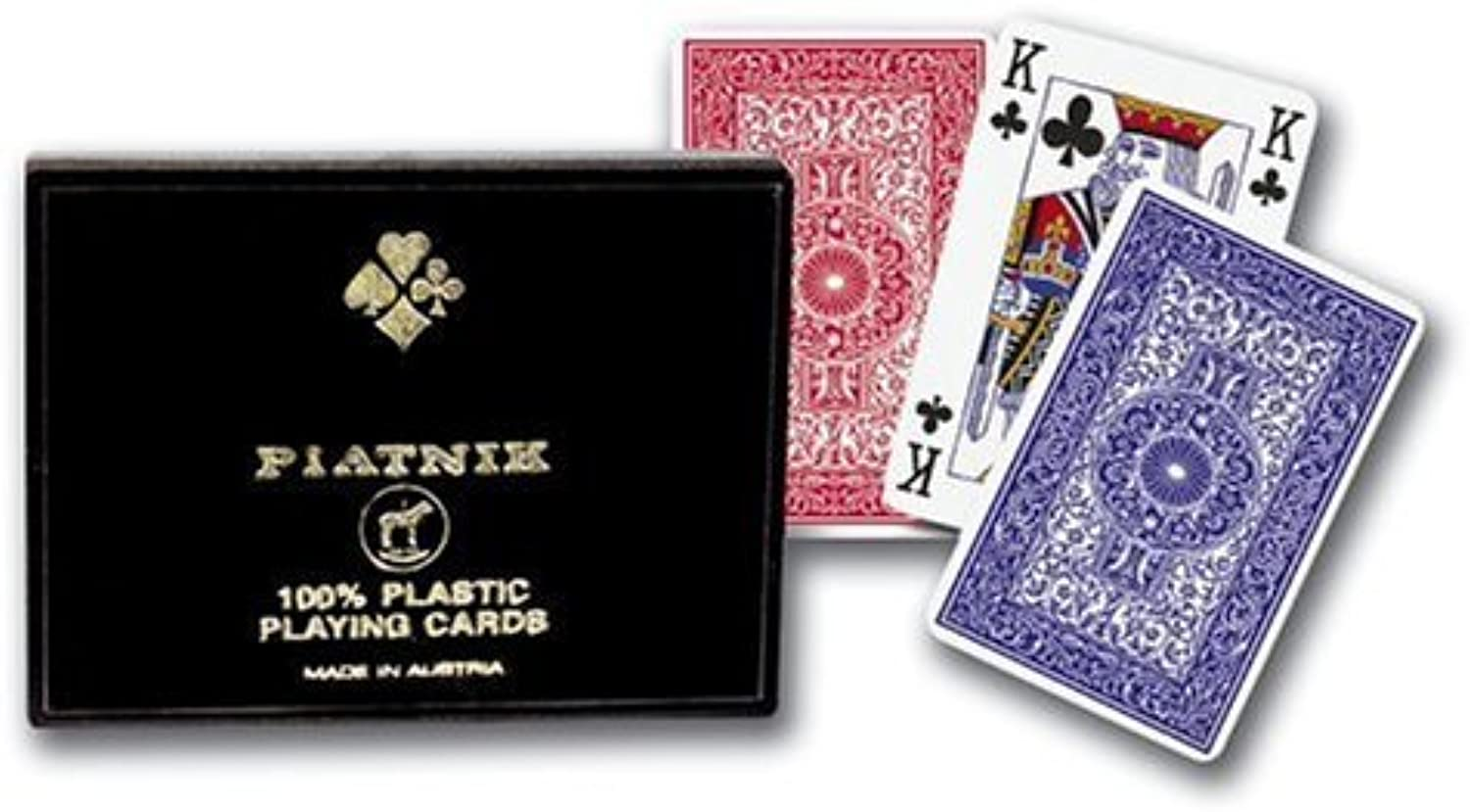 Platnik 100% Plastic Double Deck Playing Cards by Gibsons B01C6NKXXC Neuartiges Design | Zürich Online Shop