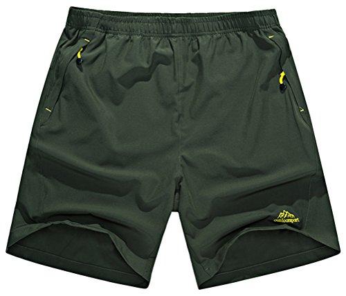 Singbring Men's Outdoor Quick Dry Hiking Shorts Zipper Pockets (Medium, Gray1#)