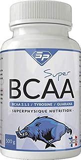 Super BCAA : booster d'entraînement sportif et musculation (4 mois d'utilisation, façonné en France). Convient aux végétar...