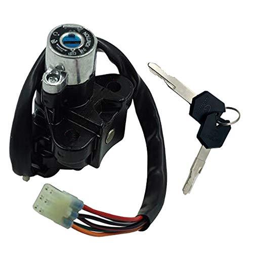 B Blesiya Interruptor de encendido gasolina tanque tapa bloqueo conjunto de llaves para motocicleta Suzuki GSXR600 750