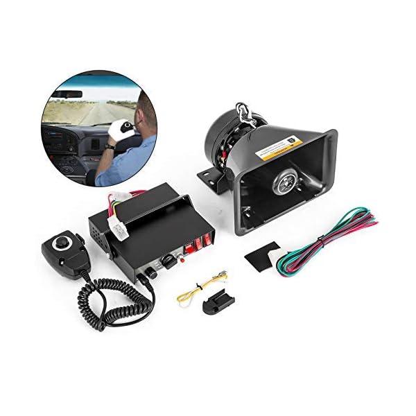Mophorn 100W 8 Sound Loud Car Warning Alarm Police Siren Horn Speaker MIC System...