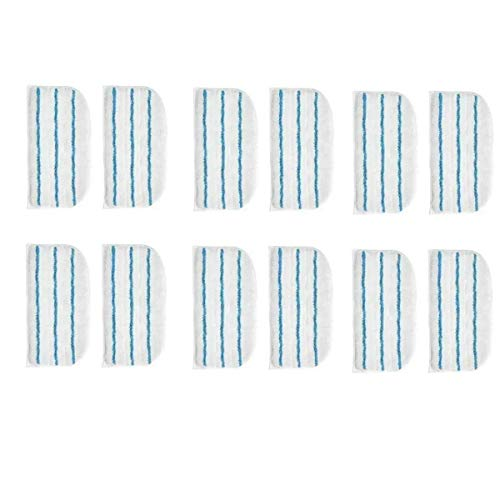 BLUELIRR 12 Panni Lavabili in Microfibra Rettangolari per Black & Decker Steam Mop FSMP20, FSMH1321JMD, FSM1500, FSM1600, FSM1610, FSM1620, FSM1621, FSM1630, FSMH162