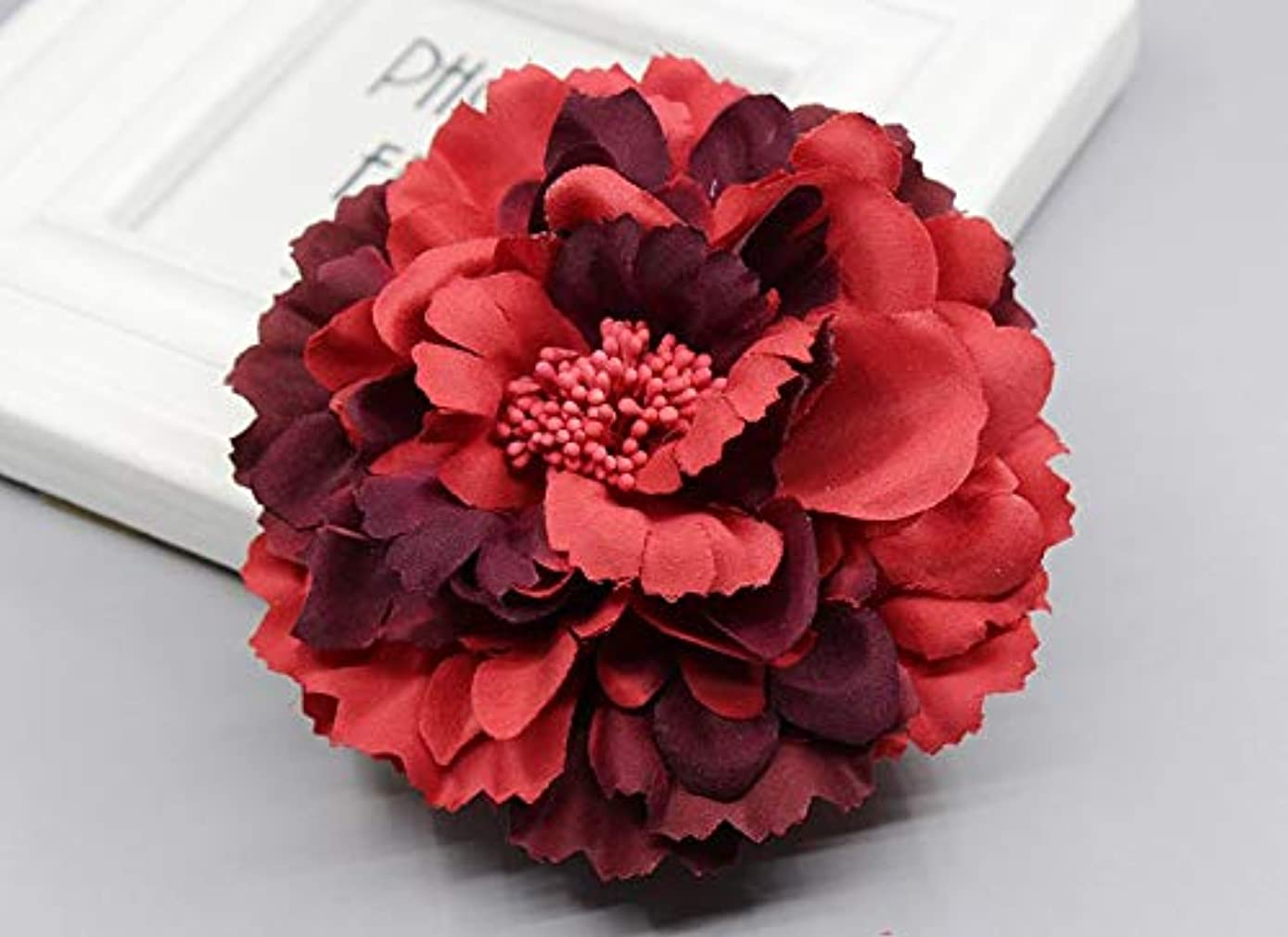 2019 Trendy Fabric Blooming Peony Flower Corsage Brooch Woman Hair Decorations & Brooch Wedding Party Hair Clip Bridal Wedding