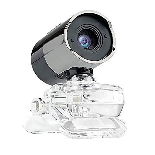 Cfilet Hd inteligente enfoque manual de la cámara del ordenador, con el micrófono del controlador USB, un solo botón Botón de cámara de la cámara portátil, Base ajustable for ajustar la vista libremen