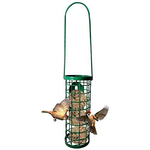 Wild Bird Seed Feeder Hängend, Green Fat Ball Bird Feeder mit Ringen, Niger Seed Feeder für Mix Seed Blends Outdoor Garden Food Dispenser Idee für Gartendekoration Vögel und Tiere