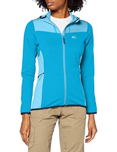 MILLET Seneca Tecno II Hoodie W Fleece Jacket, Womens, H Light Blue/Light Blue, S