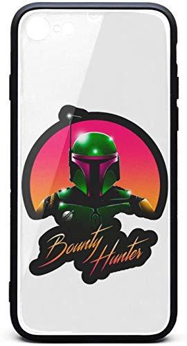 Carcasa protectora para iPhone 6/iPhone 6S Mandalorian-Hunter-Poster- Unisex de lujo de cristal templado negro antiarañazos TPU goma parachoques accesorios cubierta trasera