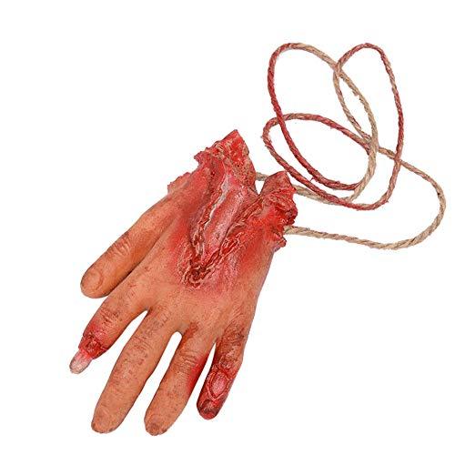 YWLINK Halloween Dekoration Fake Blut Horror Orgel GefäLschte Latex Arm Hand Fuß Herz Gehirn Finger(F,10X10cm)
