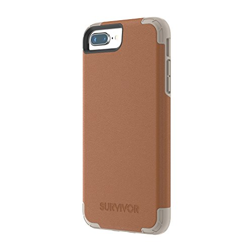 Griffin Survivor Prime Leather - Funda para Apple iPhone 8/7 / 6s / 6 Plus, Color marrón