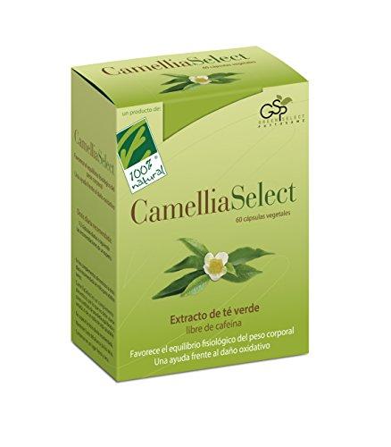 100% Natural CameliaSelect Complemento Alimenticio Te Verde, Vitamina C - 60 Cápsulas