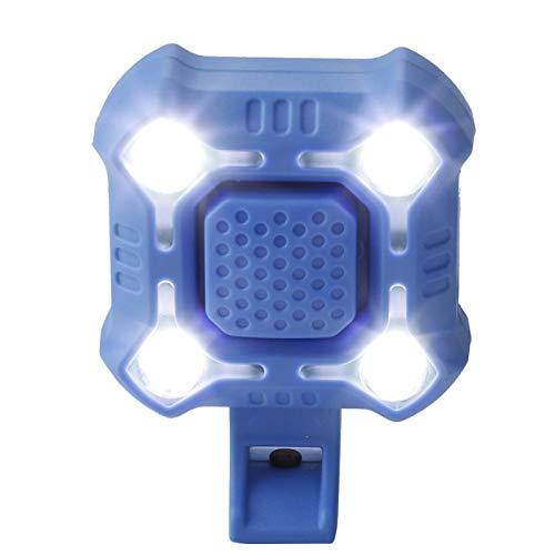 Kuuleyn Lámpara para Manillar de Bicicleta, Recargable por USB, Impermeable, para Bicicleta, lámpara Frontal súper Brillante, Campana, luz para Manillar de Bicicleta, Accesorio (Azul)
