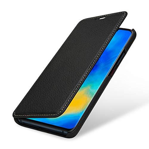 StilGut Lederhülle für Huawei Mate 20 Pro Book Type, schwarz