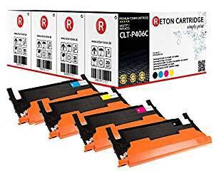 4 Original Reton Toner, kompatibel, nach (ISO-Norm 19798) ersetzt CLT-P406C für Samsung CLP-360 CLP-365 CLP-365W CLX-3300 CLX-3305 CLX-3305FN CLX-3305FW CLX-3305W Xpress C410W Xpress C460FW C460W
