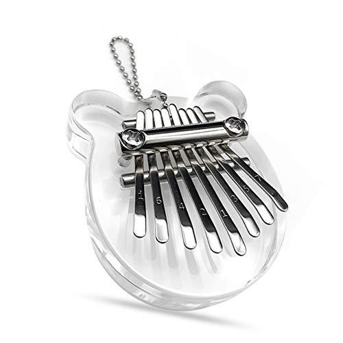 Kalimba 8 Tasten, Daumenklavier, Mini Daumenklavier, Finger Piano, Finger Klavier, Daumen Musikinstrument (Mini Kleiner Bär)