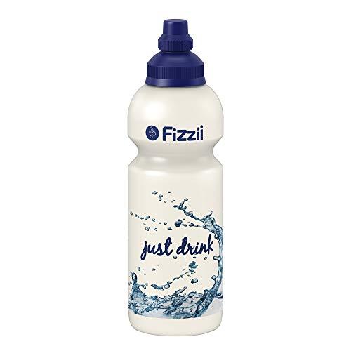 Fizzii Kinder- und Freizeittrinkflasche 600 ml (auslaufsicher bei Kohlensäure, schadstofffrei, spülmaschinenfest, Motiv: Just-Drink)