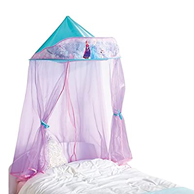 Disney Frozen Kids Bed Canopy For Single Bed and Toddler Bed