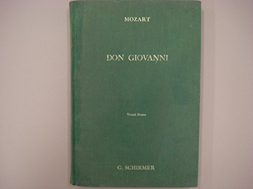 Don Giovanni: Opera in Two Acts, Vocal Score