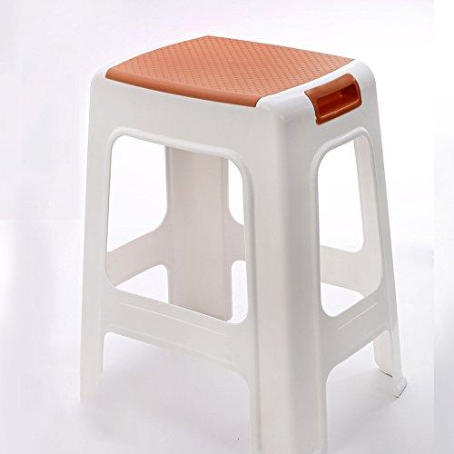 Tabourets Xiaolin en Plastique épais de Table à la Maison de Mode de Salle de Bain (Couleur : Marron, Taille : Height46cm)