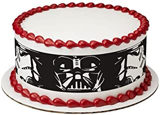 Star Wars Darth Vader & Storm Trooper Cake Strips Licensed Edible Cake Topper #7392
