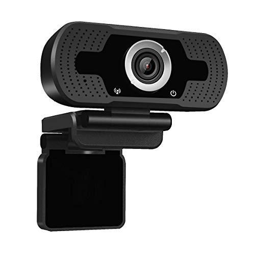 Dericam 1080P Webcam mit Mikrofon, USB-Computer-Webkamera, Plug & Play-Desktop- und Laptop-Webcam für Windows Mac OS, für Videoanrufe, Streaming, Konferenz, Spiele, Online-Unterricht
