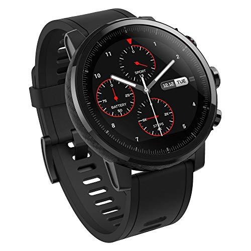 AMAZFIT Stratos 2 Smartwatch, Huami Reloj Inteligente con GPS, Versión Internacional, Funciona con iOS y Android (Negro) (Reacondicionado)