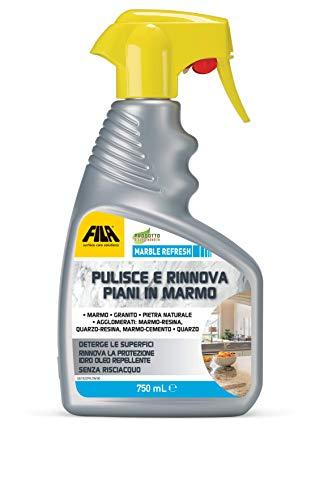 MARBLE REFRESH, Detergente Spray per Marmo, Quarzo, Granito, Pulisce e Rinnova la Protezione dei Top Cucina, 750ml