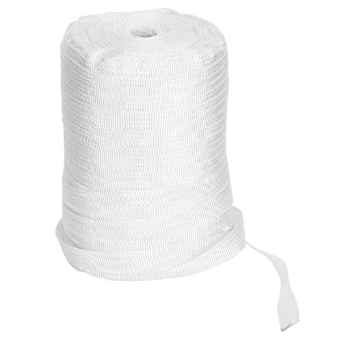 Atyhao Heavy Duty Woven Cord Strapping 300 Meters Polyester Woven Cord Strapping Press Film Rope for Greenhouse Accessories
