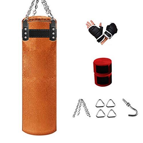 EYLIFE Boxsack Punchingball Erwachsene, Boxing Bag Punching Bag Set mit Boxhandschuhen, Bandagen und Deckenhalterung, Ungefüllt 100cm