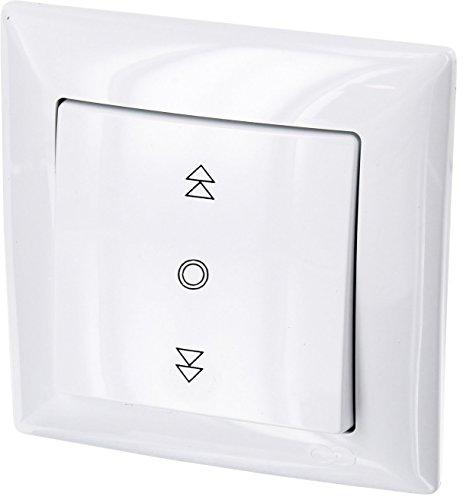potente para casa Up G1 – Persiana, interruptor de marco + uso + cubierta protectora (blanco)