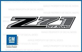 GMC Sierra Z71 Offroad Truck Gray & Black Stickers Decals - FB (2014-2018) Bedside (Set of 2)
