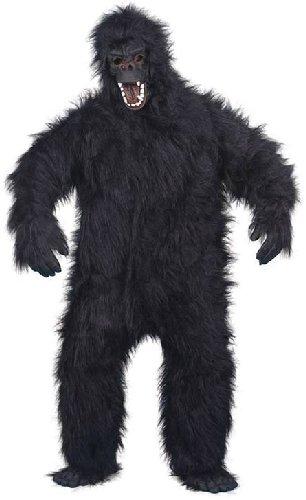 Smiffys Costume de gorille, noir, avec combinaison, masque, mains et pieds