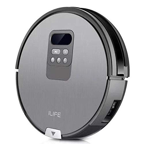 ILIFE V80, Smart 2-in-1 Dry & Wet, Planned Cleaning Robot Vacuum, Automatic Self-Charging, Anti Stuck,Schedule, Cliff Detection with Electronically controlled Water/Dust Tank