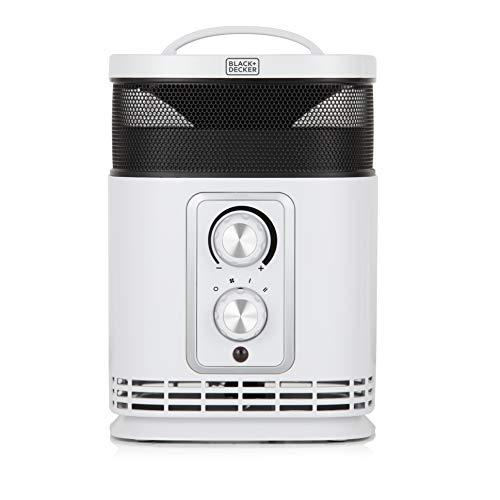 Black+Decker BXSH37001GB Digital Oscillating Ceramic Tower Heater and 12...