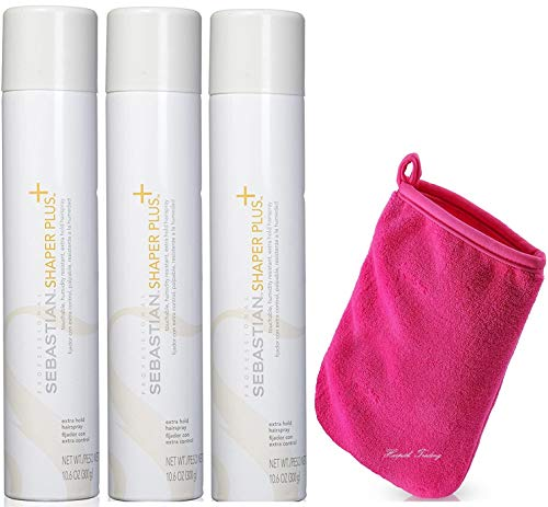 Shaper Plus Hairspray 10.6 Ounce And Harpeth Trading Makeup Remover (Pack Of 3)
