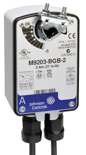 Johnson Controls M9203-GGA-2Z Electric Actuator, 27 in-lb. Running Torque, -22 to 140 Degree F