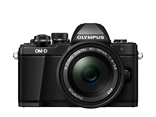 "Olympus E-M10 Mark-II- Cámara EVIL de 16.1 Mp (pantalla 3"", estabilizador óptico, vídeo Full HD, WiFi), negro - kit cámara con objetivo 40-150mm"