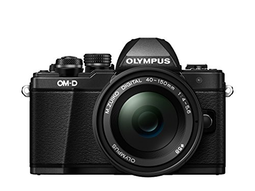 "Olympus E-M10 Mark-II - Cámara EVIL de 16.1 Mp (pantalla 3"", estabilizador óptico, vídeo Full HD, WiFi), negro - kit cámara con objetivo 40-150mm"