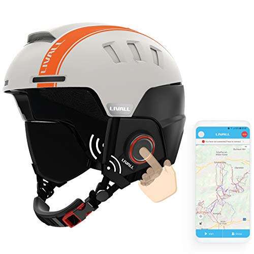LIVALL RS1 Skihelm, weiß orange, 57-61cm