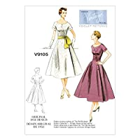【vogue patterns】ヴィンテージ 50年代デザイン ワンピースドレスとサッシュの型紙セット サイズ:US6-8-10-12-14 *9105
