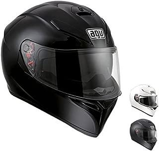 AGV 0101-7484 K-3 SV Motorcycle Helmet (Matte Black, Small)