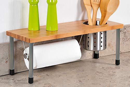 Kesper Küchenregal mit abnehmbaren Metall Tube, 50x 20x 21,5cm, Braun
