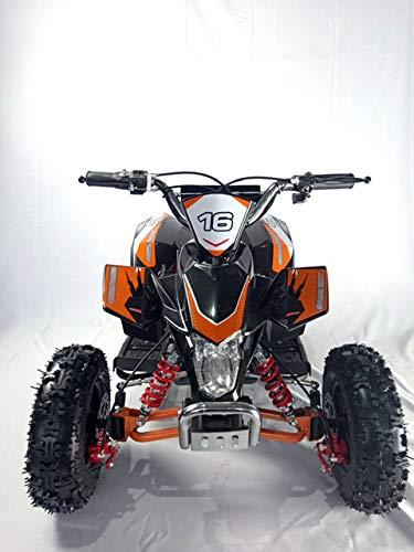 Mini quad de gasolina con motor de 49cc de 2 tiempos -ATV20 PANTERA. / Mini quad para niños de 5 a 12 años/miniquad infantil (NARANJA)
